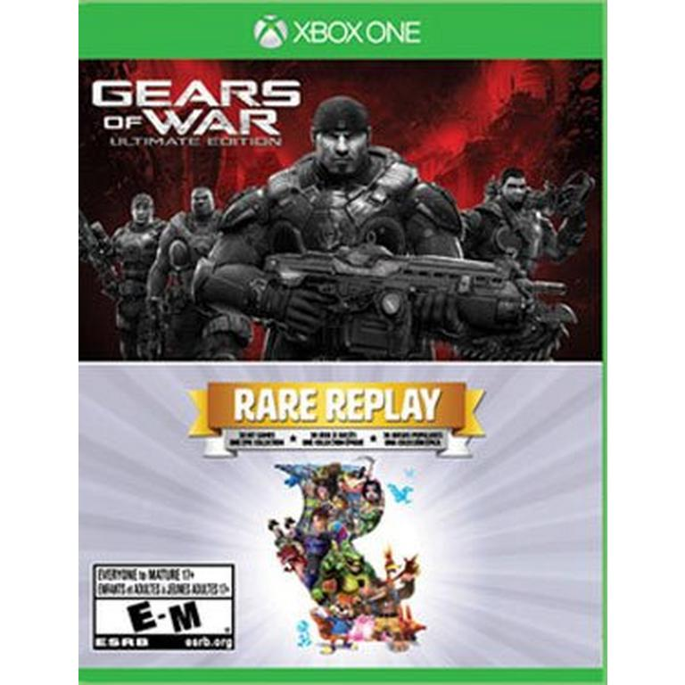 XB1: GEARS OF WAR ULTIMATE EDTION/ RARE REPLAY (NM) (COMPLETE)