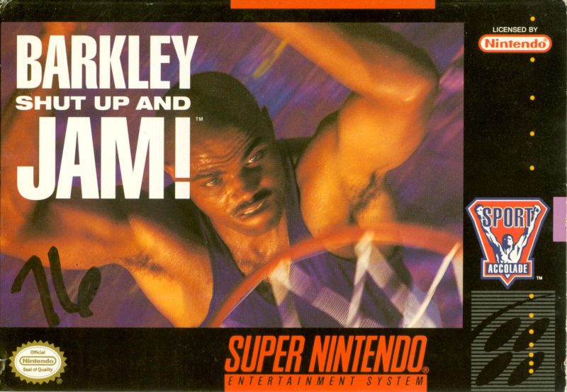 SNES: BARKLEY SHUT UP AND JAM! (GAME)