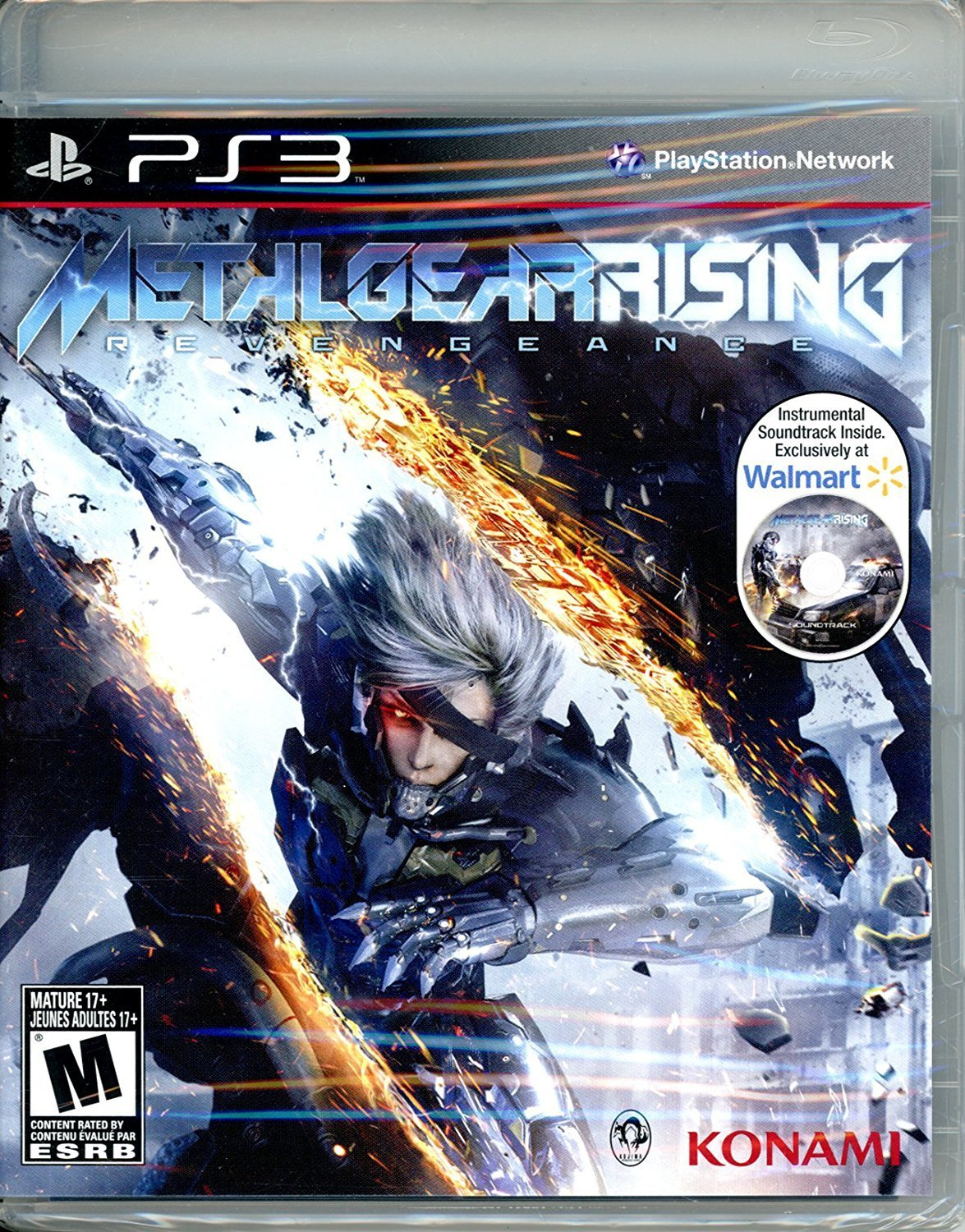 PS3: METAL GEAR RISING: REVENGEANCE (WALMART 2DISC) (COMPLETE)
