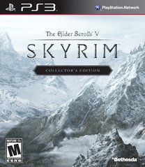 PS3: ELDER SCROLLS V: SKYRIM - COLLECTORS EDITION (2 DISC) NO STATUE OR ARTBOOK (COMPLETE)