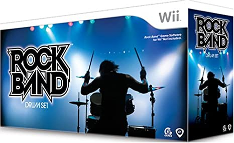 WII: DRUM SET - ROCKBAND 1 - WIRED (USED)