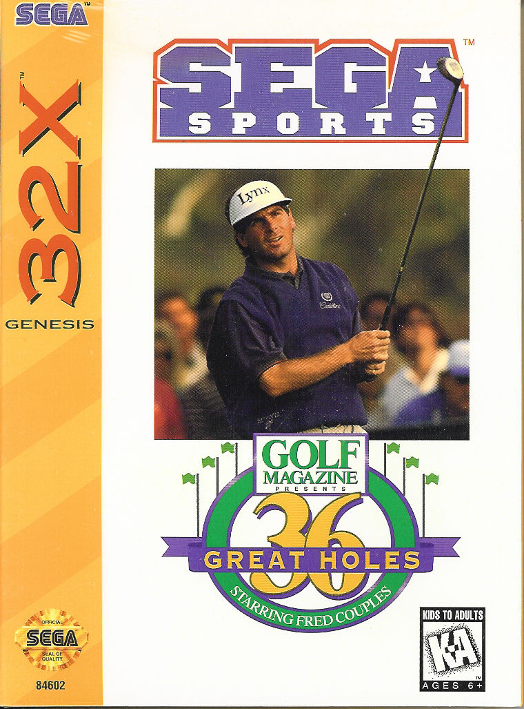 32X: GOLF MAGAZINE: 36 GREAT HOLES STARRING FRED COUPLES (BROKEN BOX) (COMPLETE)