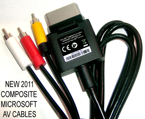 360: AV CABLE - MSFT - COMPOSITE (Y/R/W) (USED)
