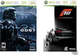 360: FORZA MOTORSPORT 3 / HALO 3 ODST (FOUR DISCS) (COMPLETE)