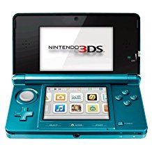 3DS: CONSOLE - AQUA - W/ CHARGER (USED)