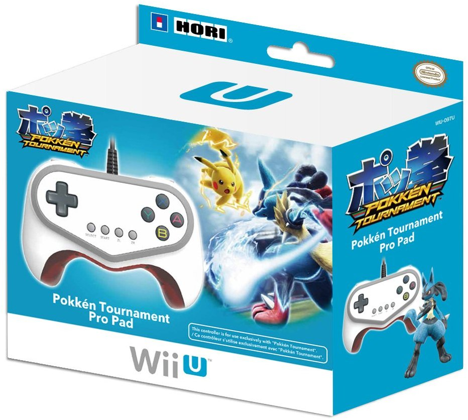 WIIU: CONTROLLER - GENERIC - WIRED - POKKEN TOURNAMENT PRO PAD (USED)