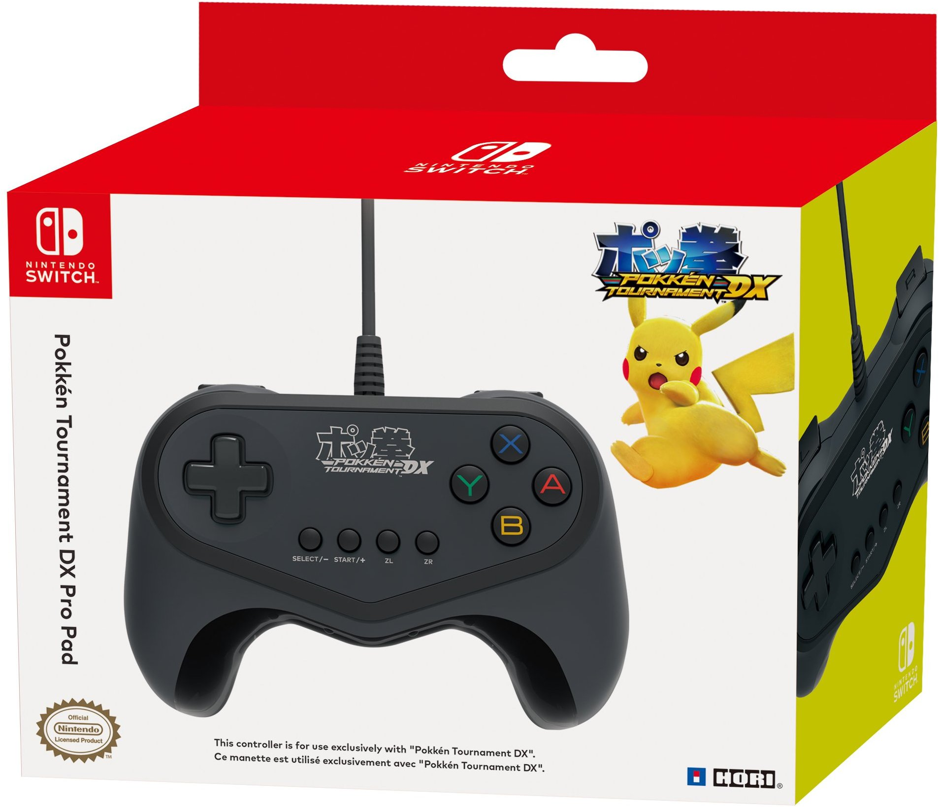 NS: CONTROLLER - GENERIC - WIRED - POKKEN TOURNAMENT DX PRO PAD (USED)
