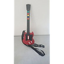 PS2: GUITAR HERO II SG GUITAR - CHERRY - WIRED (USED)