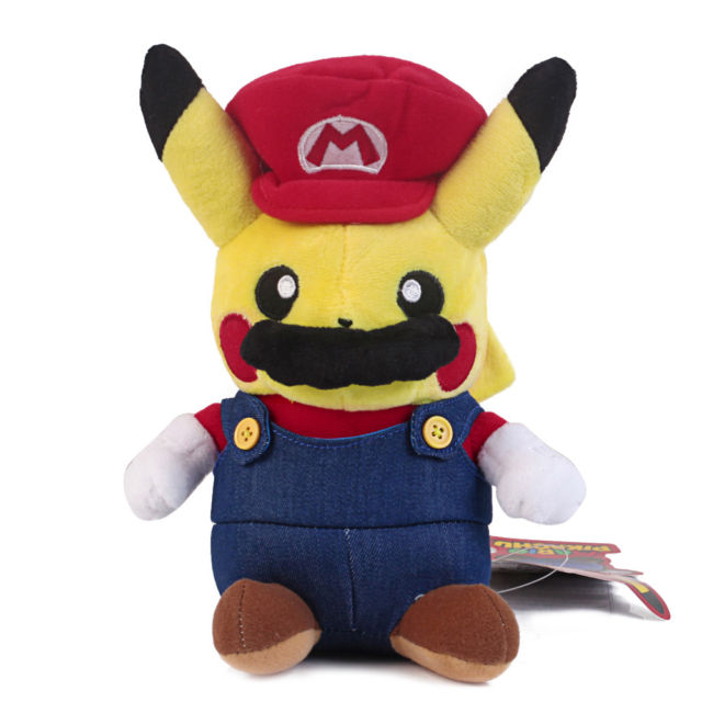 MISC: MARIO COSPLAY PIKACHU KEY CHAIN (NEW)