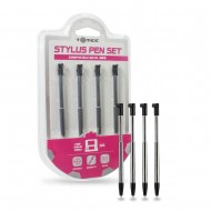 3DS: RETRACTABLE METALLIC STYLUS PEN 4-PACK - TOMEE (NEW)