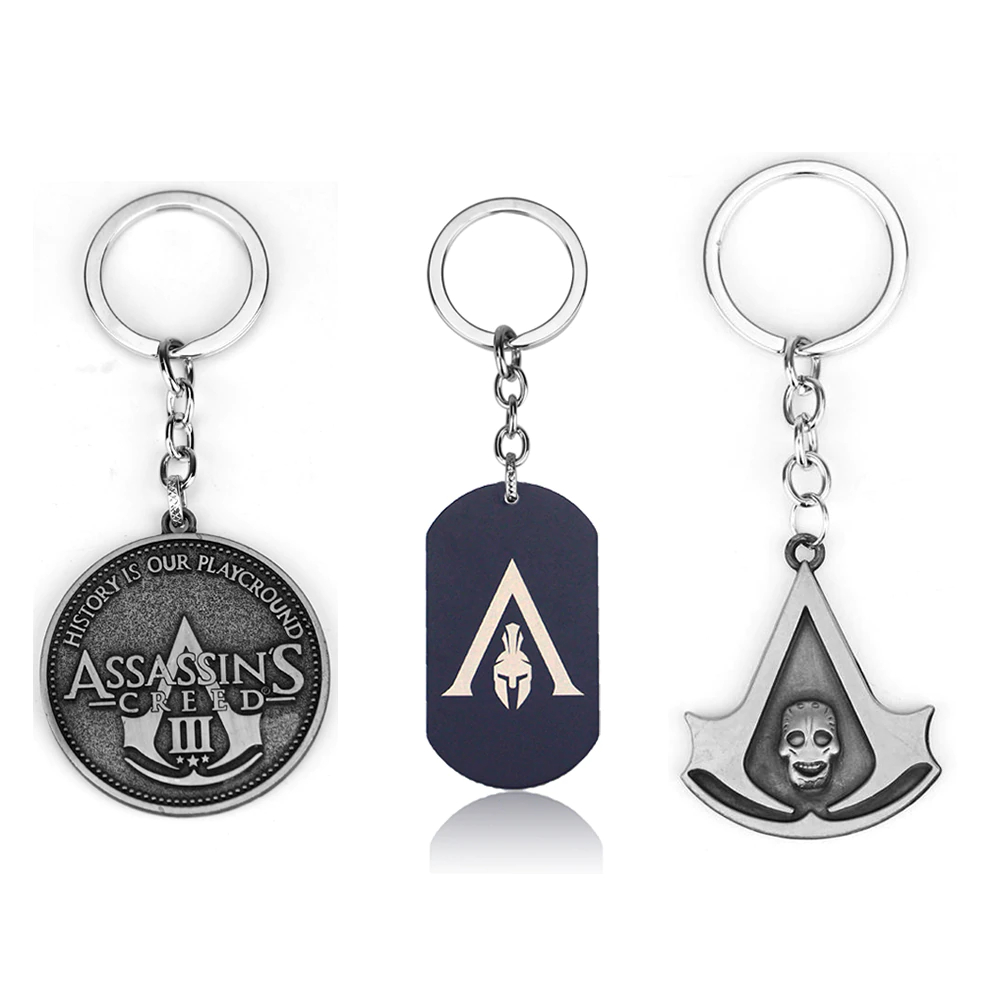 MISC: ASSORTED ASSASSINS CREED KEY CHAIN (NEW)