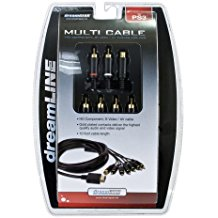 PS1/PS2/PS3: AV CABLE - COMPNT/S-VIDEO (RED/BLUE/GREEN RED/WHITE) (NEW)