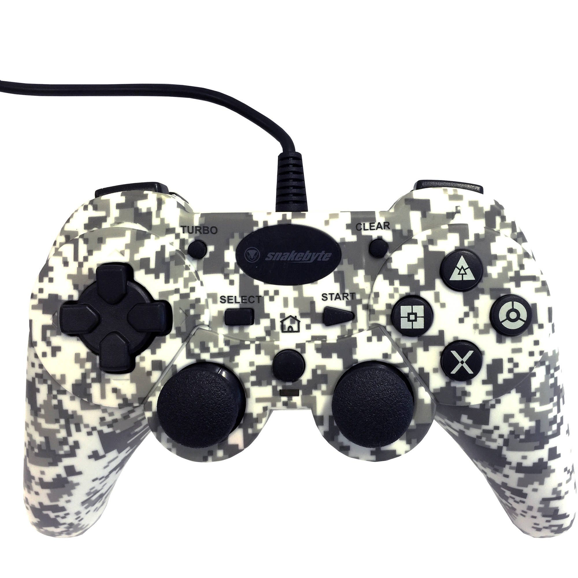PS3: CONTROLLER - SNAKEBYTE - WIRED - CAMOUFLAGE (NEW)
