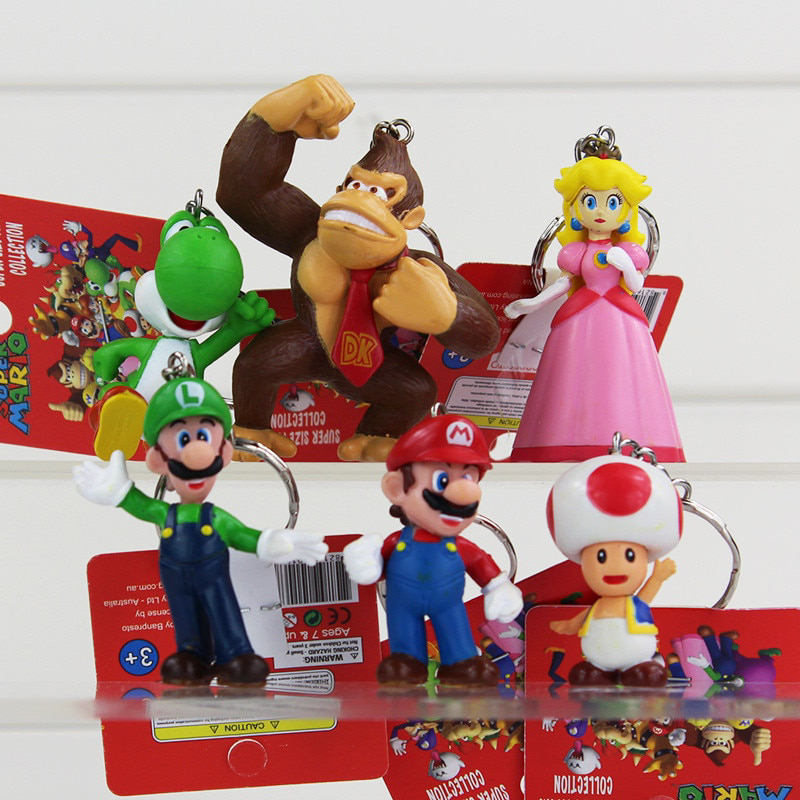 MISC: ASSORTED MARIO THEMED KEY CHAIN (NEW)