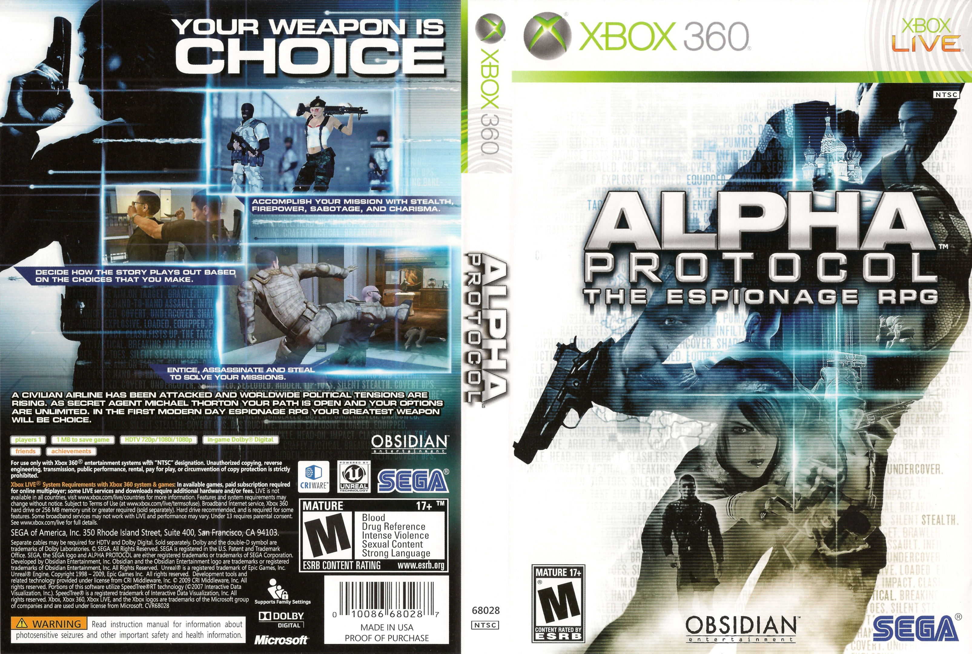 360: ALPHA PROTOCOL THE ESPIONA RPG (GAME)