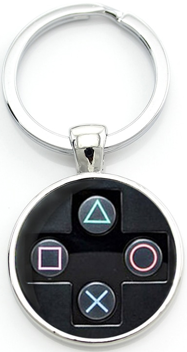 MISC: ASSORTED CONTROLLER BUTTON KEY CHAIN (NEW)