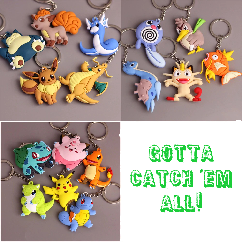 MISC: ASSORTED POKEMON KEY CHAIN (NEW)