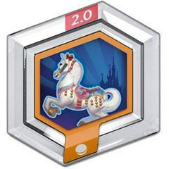 FIG: DISNEY INFINITY 2.0 ORIGINALS WAVE POWER DISC: FANTASYLAND CAROUSEL HORSE (USED)