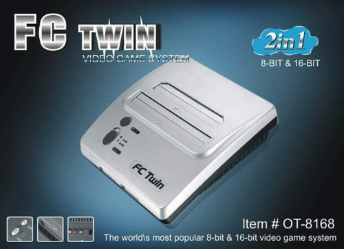 SNES: CONSOLE - YOBO - FC TWIN - W/ 2 CTRL; HOOKUPS - SILVER (USED)