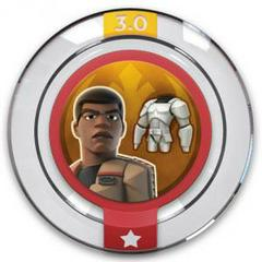 FIG: DISNEY INFINITY 3.0 STAR WARS POWER DISC: FINNS STORMTROOPER COSTUME (USED)