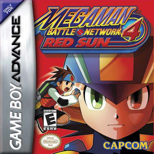 GBA: MEGA MAN BATTLE NETWORK 4 RED SUN (GAME)