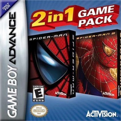 GBA: SPIDER-MAN/ SPIDER-MAN 2 BUNDLE (COSMETIC ISSUES) (GAME)