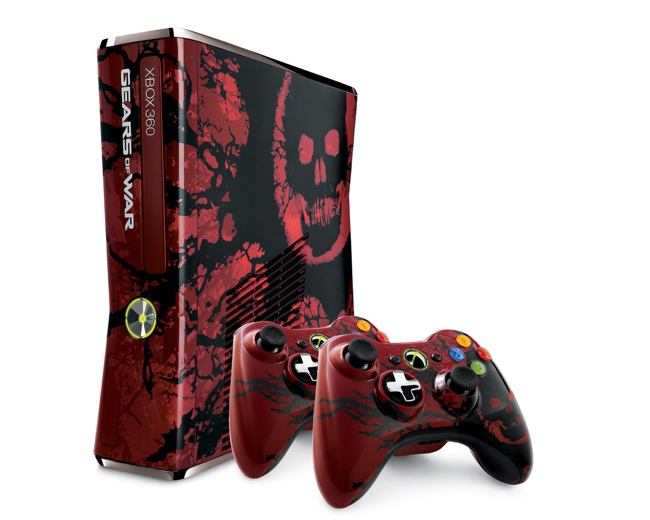 360: CONSOLE - SLIM - GEARS OF WAR 3 EDITION - INCL: 1 GOW 3 CTRL; HOOKUPS; 320GB HDD; GOW 3 GAME DISC (USED)