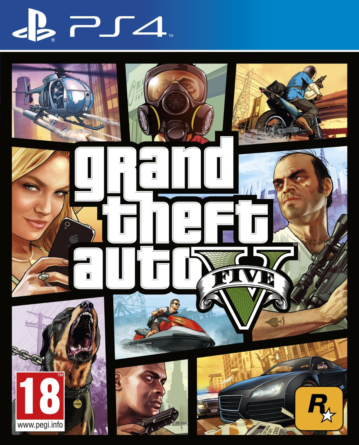 PS4: GRAND THEFT AUTO V (GTA V) (COMPLETE)