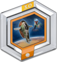 FIG: DISNEY INFINITY 3.0 STAR WARS POWER DISC: SLAVE I FLYER (USED)