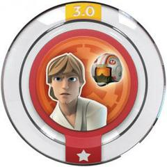 FIG: DISNEY INFINITY 3.0 STAR WARS POWER DISC: REBEL ALLIANCE FLIGHT SUIT (USED)