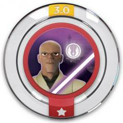 FIG: DISNEY INFINITY 3.0 STAR WARS POWER DISC: GALACTIC TEAM-UP: MACE WINDU (USED)
