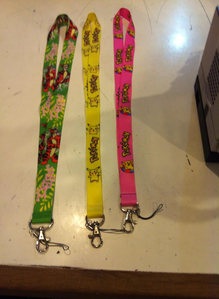 MISC: PIKACHU LANYARD - VARIOUS COLORS (NEW)