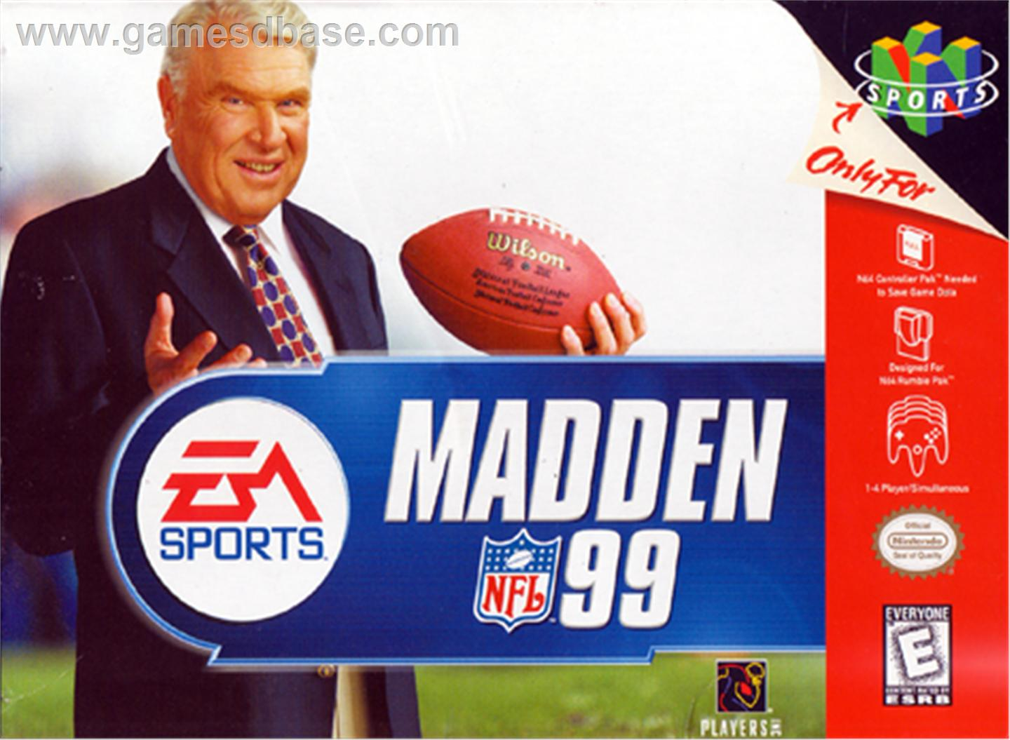 N64: MADDEN 1999 (GAME)