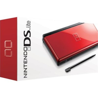 NDS: CONSOLE - DS LITE - CRIMSON/BLACK - INCL: CHARGER; STYLUS (USED)