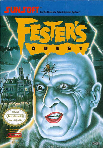 NES: FESTERS QUEST (GAME) (WORN LABEL)