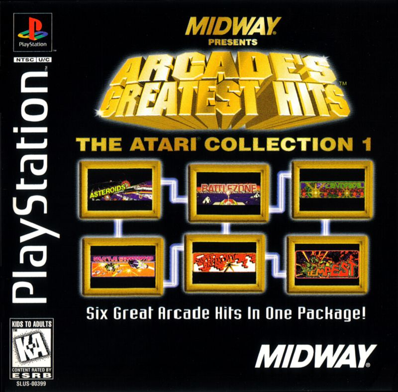 PS1: ARCADES GREATEST HITS: THE ATARI COLLECTION 1; MIDWAY PRESENTS (COMPLETE)
