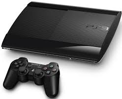 PS3: CONSOLE - MODEL CECH-4201A - SUPER SLIM 120 GB - W/ 1 CTRL; HOOKUPS (USED)