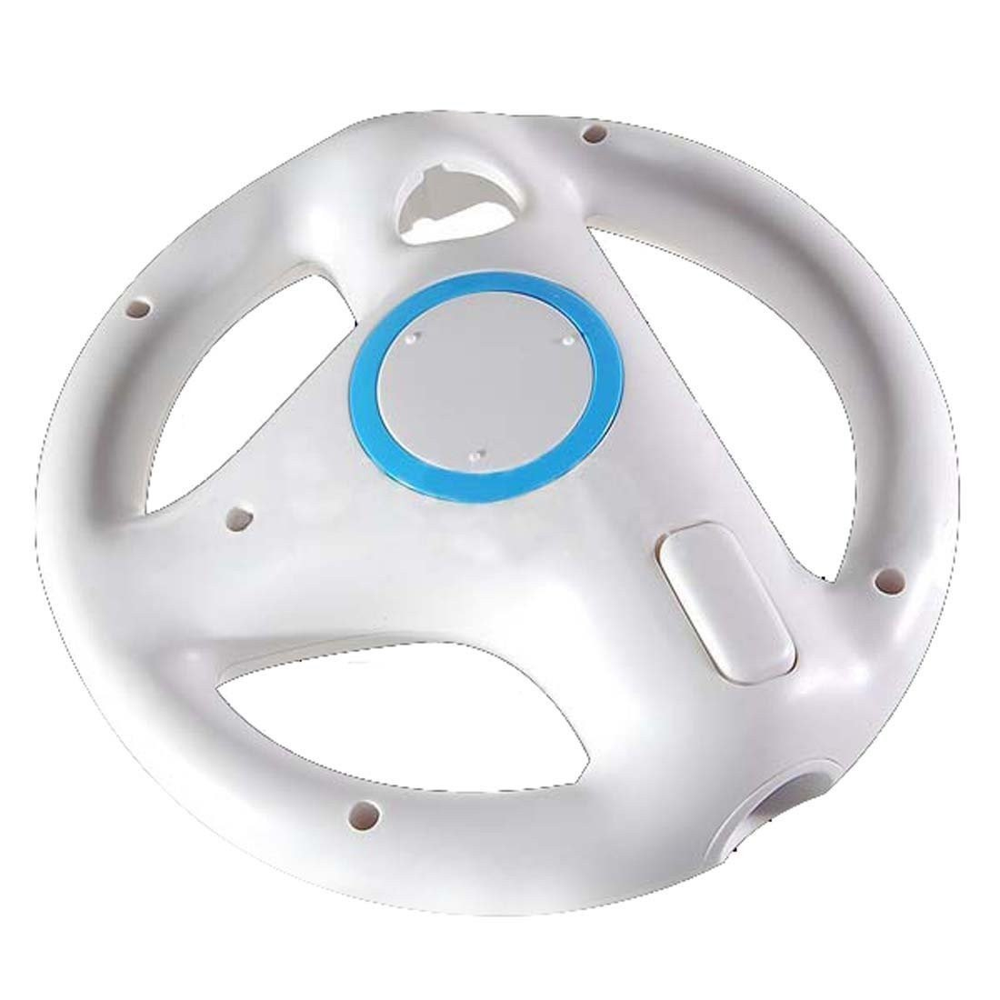 WII: STEERING WHEEL - NINTENDO - WHITE (USED)
