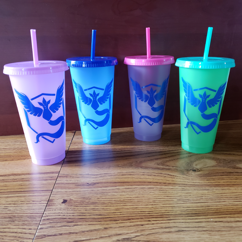 MISC: TEAM MYSTIC COLOR CHANGING CUP (NEW)