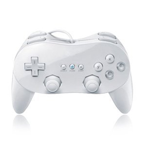 WII: CONTROLLER - NINTENDO - CLASSIC CONTROLLER - WHITE (USED)