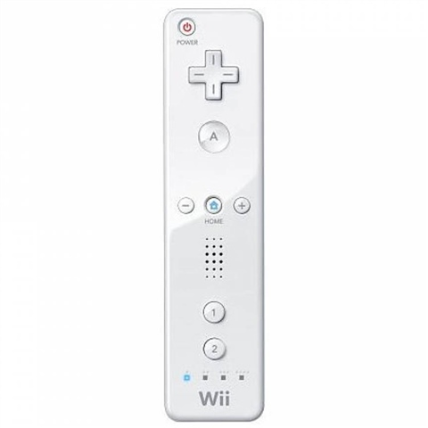 WII: CONTROLLER - NINTENDO - WIIMOTE - WHITE - NO PLUS (USED)