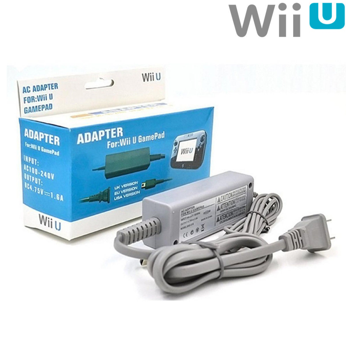 WIIU: AC ADAPTER / PSU - GENERIC - FOR GAMEPAD (NEW)