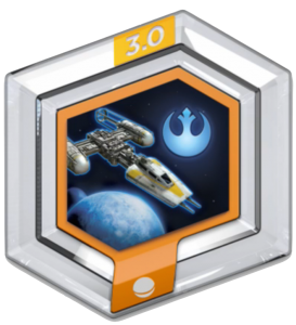 FIG: DISNEY INFINITY 3.0 STAR WARS POWER DISC: Y-WING FIGHTER (USED)