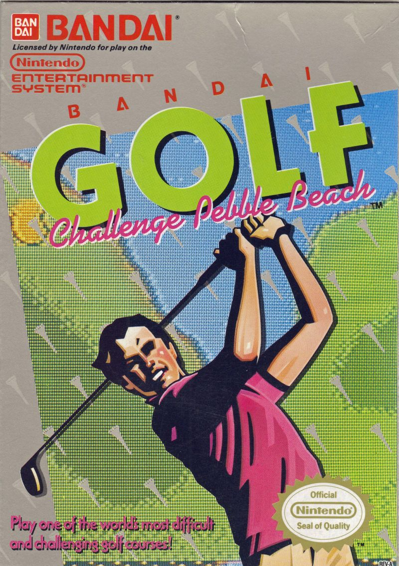 NES: BANDAI GOLF: CHALLENGE PEBBLE BEACH (REPRODUCTION BOX) (COMPLETE)