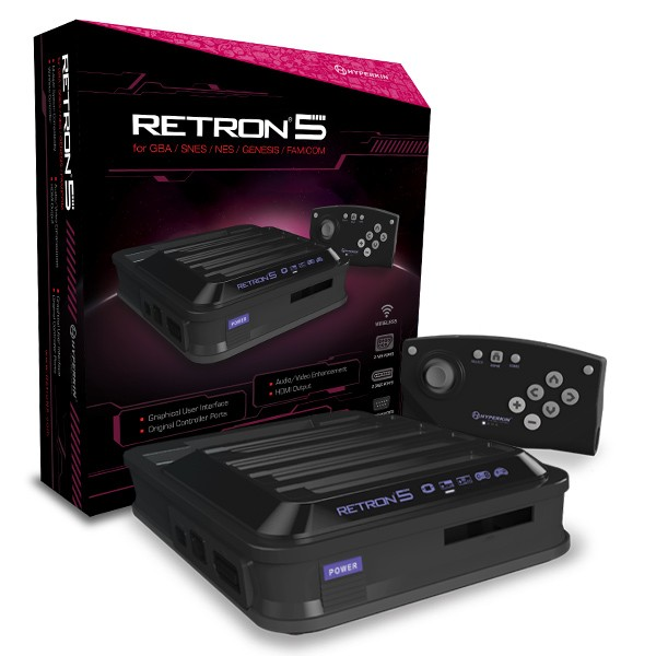 NES/SNES/SG/GBA: CONSOLE - RETRON 5 - BLACK (NEW)