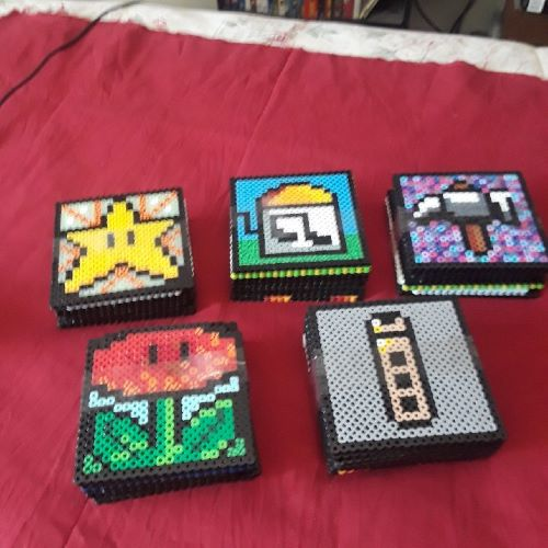 PRL: COASTER SET (SET OF 8) - MARIO THEME (NEW)