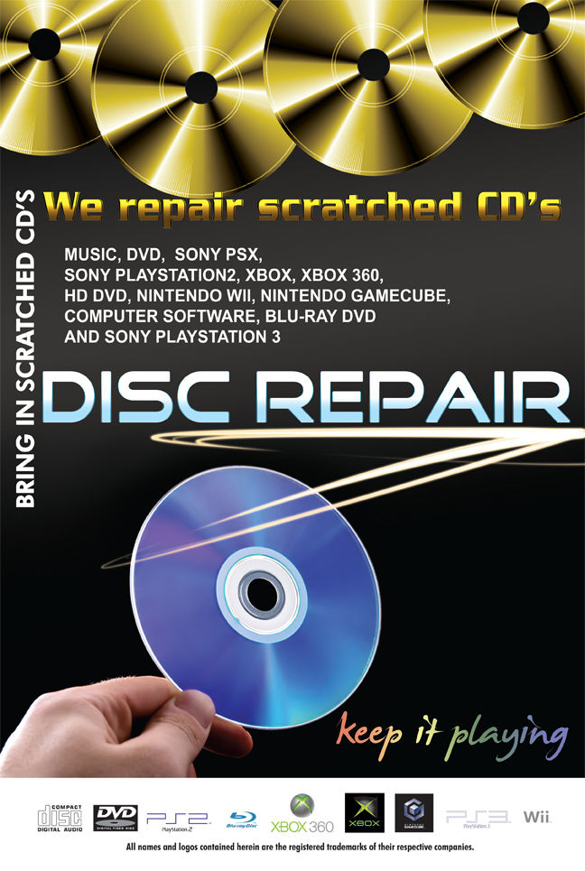 .GAME CLEANING - PER DISC OR CARTRIDGE - BUFF/BUFFING