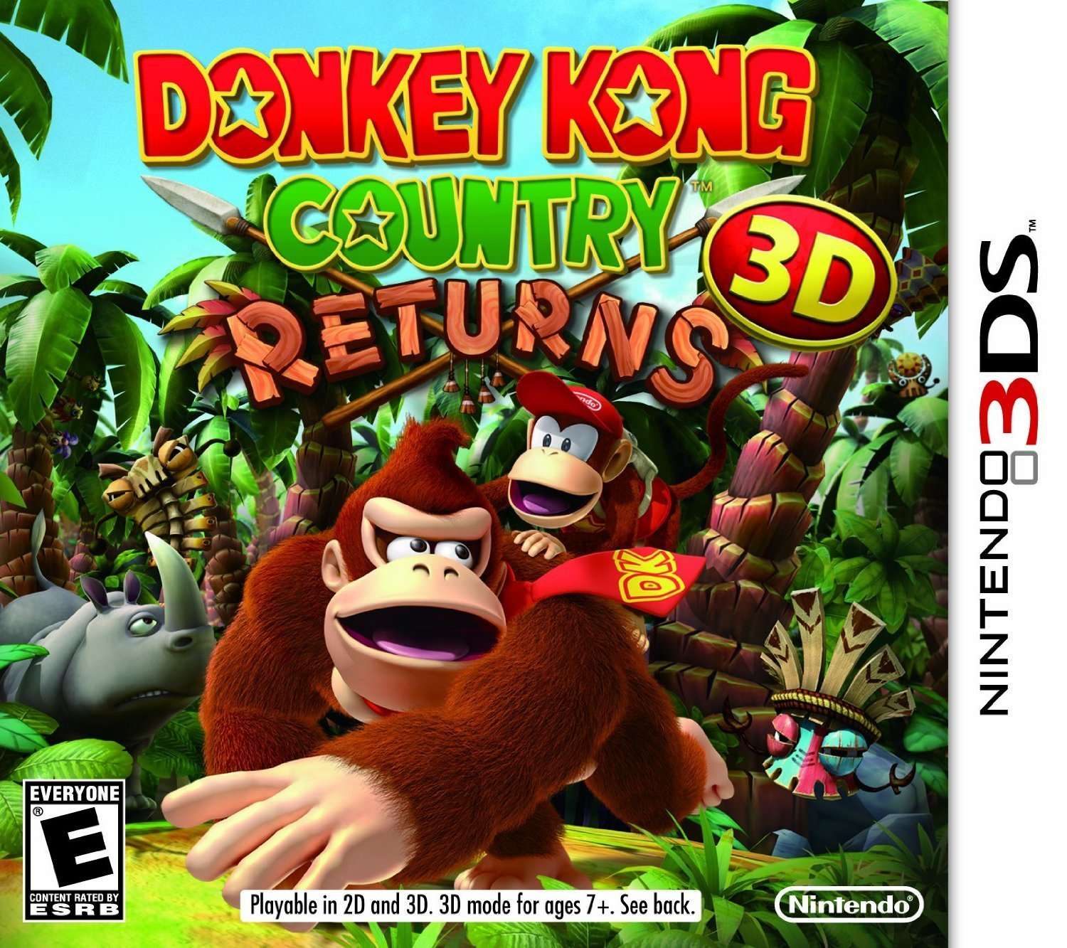 3DS: DONKEY KONG COUNTRY RETURNS 3D (BOX)