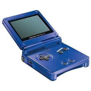 GBA: CONSOLE - GAMEBOY SP - COBALT BLUE - W/ CHARGER (USED)