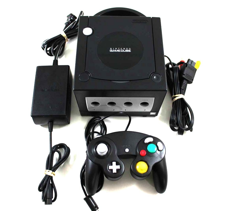 GC: CONSOLE - BLACK - INCL: CONTROLLER AND HOOKUPS (USED)